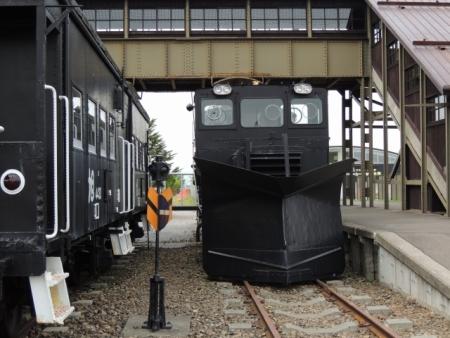 N4678中湧別駅とラッセル車