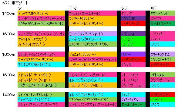 2/22東京ダート