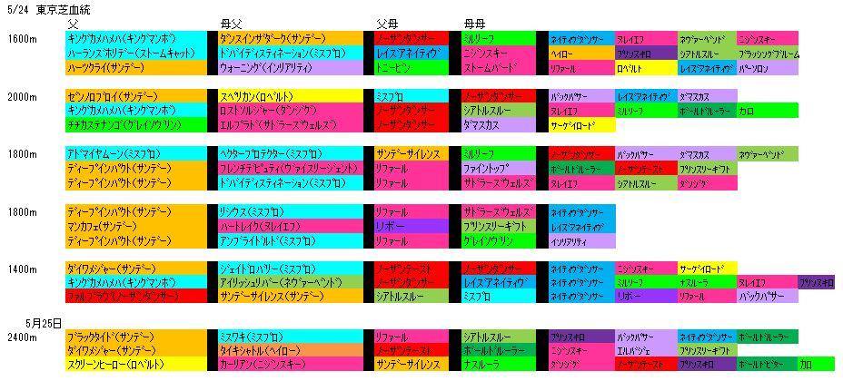 5/24東京血統