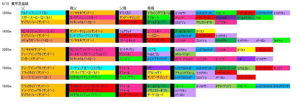 6/14東京芝血統