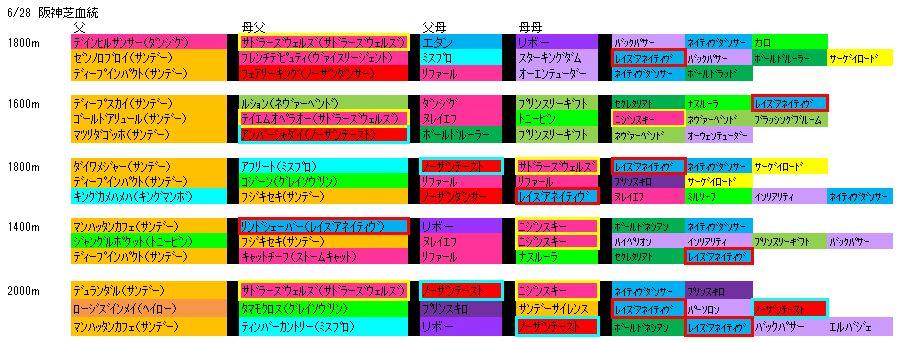 6/28阪神血統
