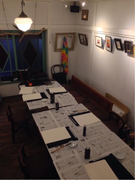 カフェ教室練習風景