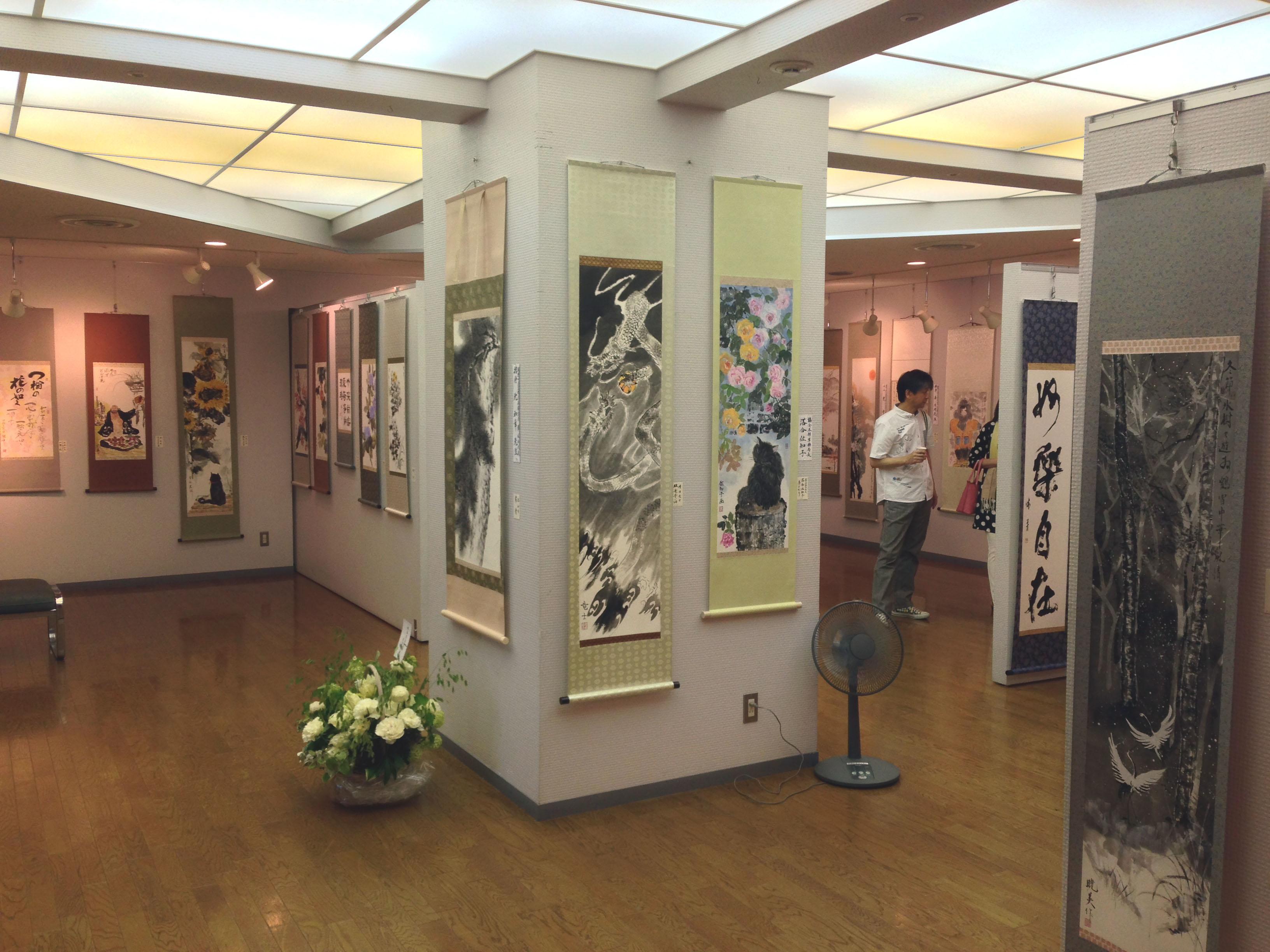 洛陽中国書法水墨画院展 会場(高輪区民センター2F展示ギャラリー) 2014 会場風景