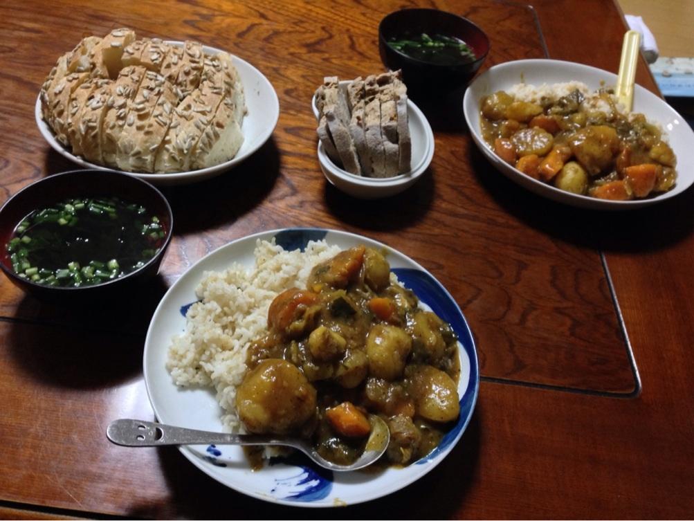 洞爺湖の地元産の野菜を使った「やすじ特製カレー」 撮影:遠藤夕幻