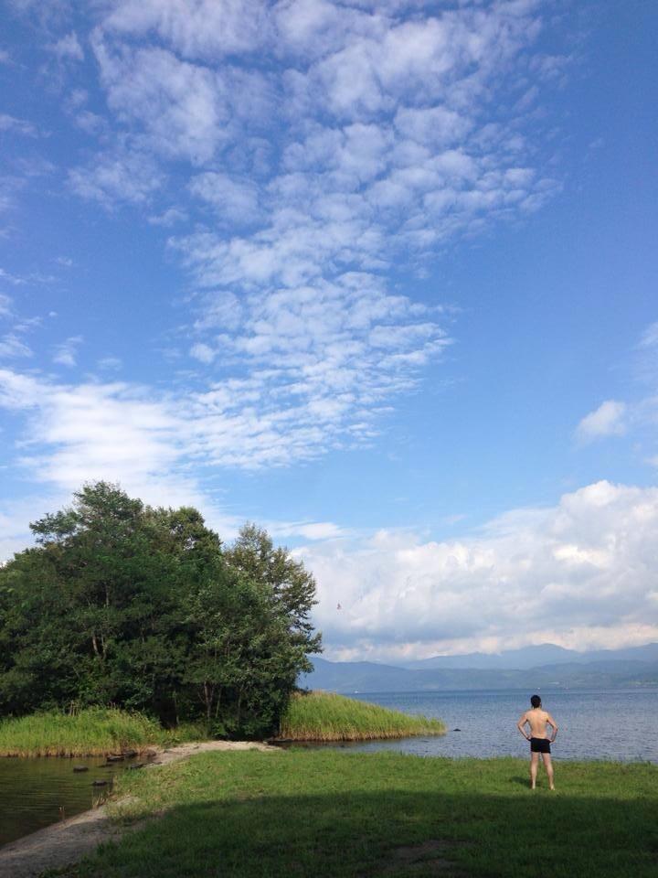 洞爺湖にて、禊ぎました。 遠藤夕幻