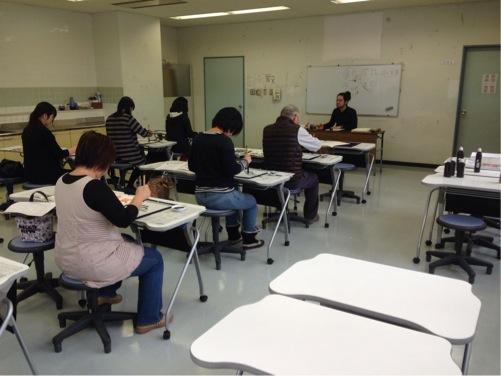 夕幻書道教室 東大島文化センター 体験教室練習風景2