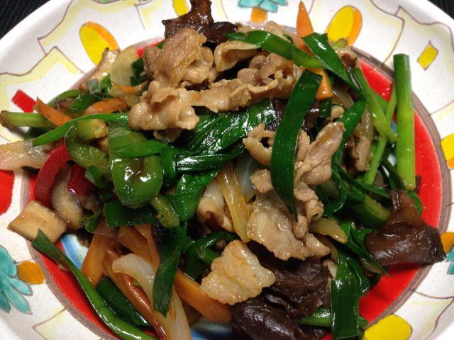 ニラ肉炒め