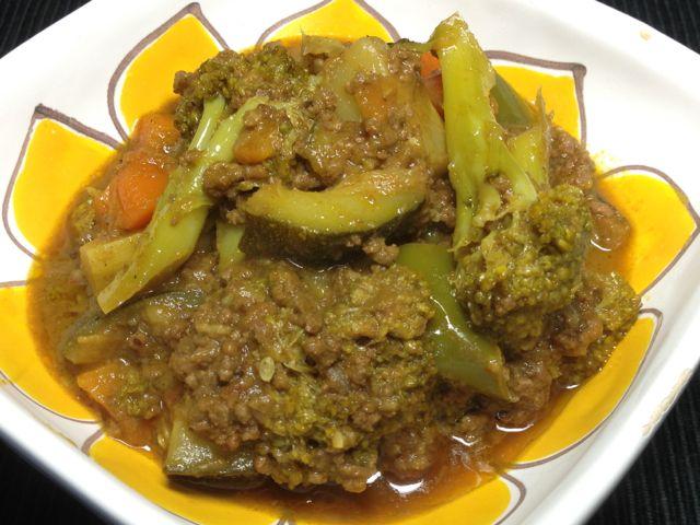 野菜キーマカレー