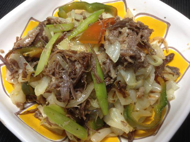 コンビーフ野菜炒め