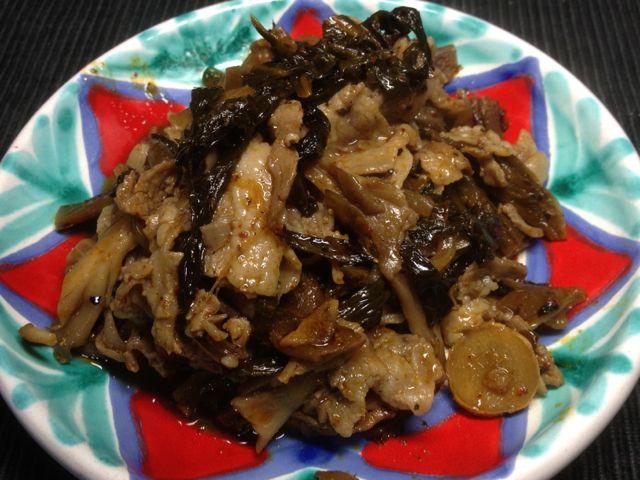 豚高菜炒め