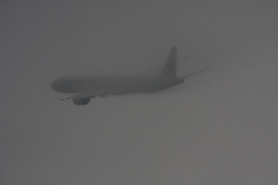 JAL B777-346 / JAL2087 (JA8945)@RWY14Rエンド・猪名川土手