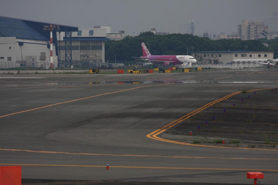 APJ A320-214 (JA807P)@エアフロントオアシス下河原沿道