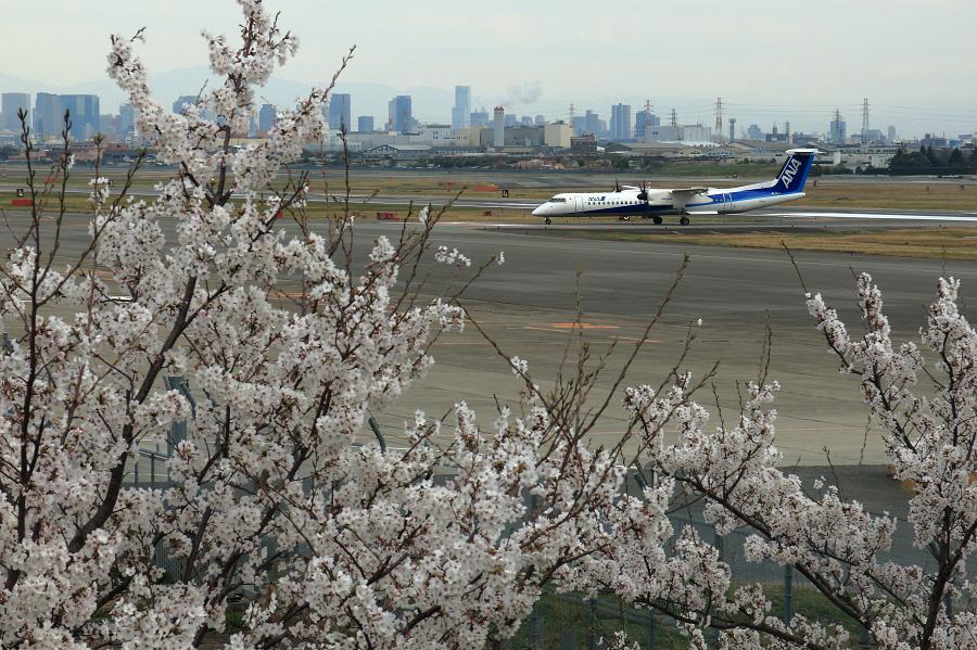 ANA WINGS DHC-8-402Q / ANA1628@下河原緑地展望デッキ