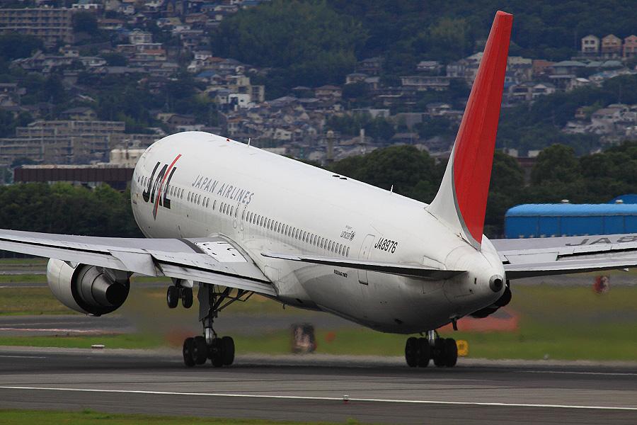 JAL B767-346 / JAL126(JA8976)@伊丹スカイパーク