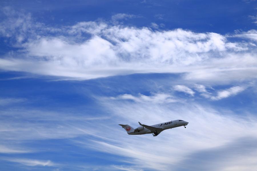 J-AIR CRJ-200ER / JAL2179 (JA201J)@下河原緑地展望デッキ
