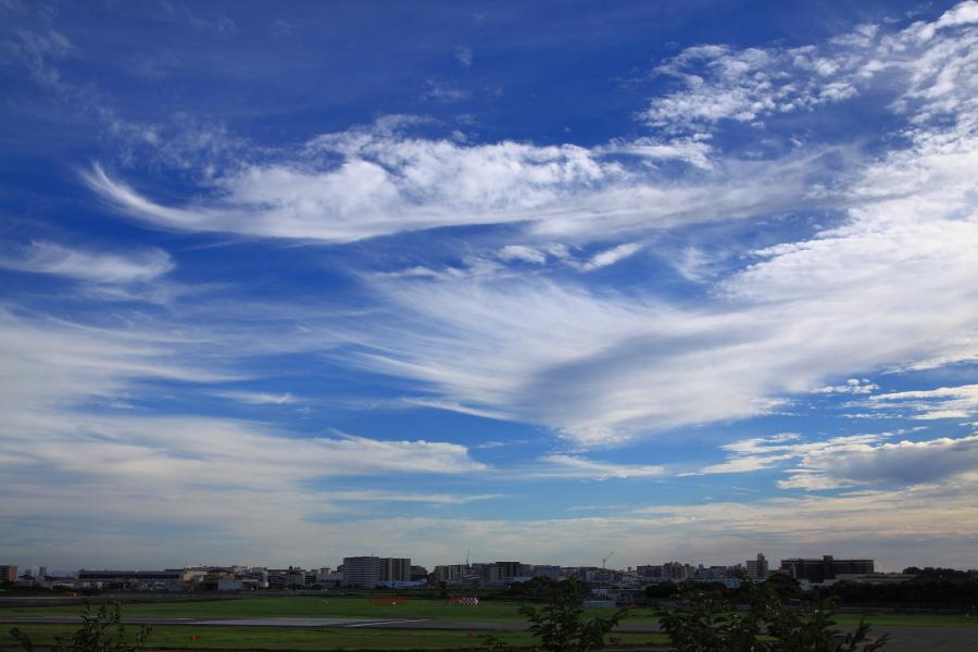 今日夕方の伊丹の空@下河原緑地展望デッキ