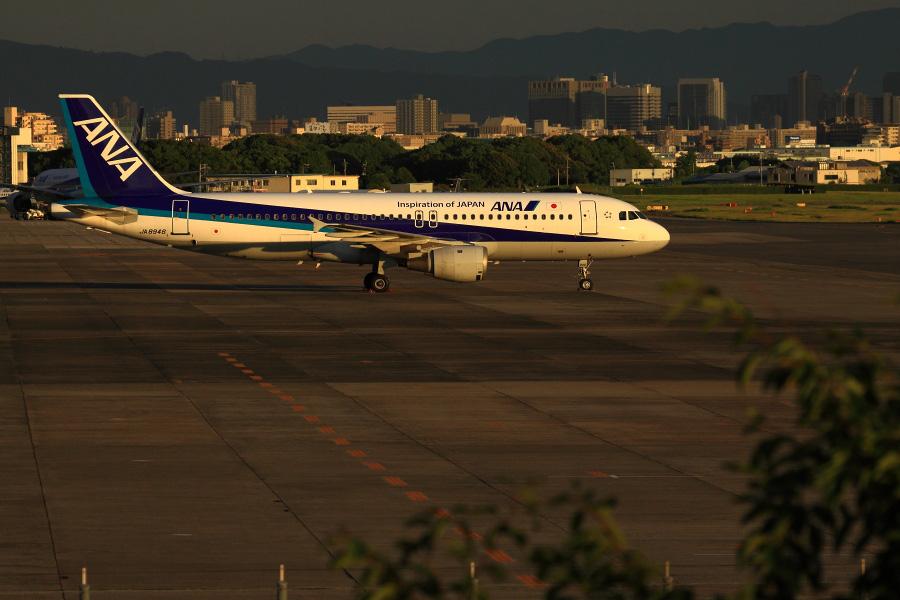 ANA A320-211 / JA8946@下河原緑地展望デッキ