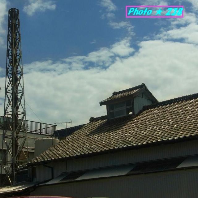 共同浴場の煙突と屋根