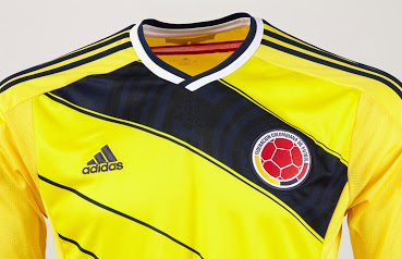 Colombia 2014 World Cup Home Kit