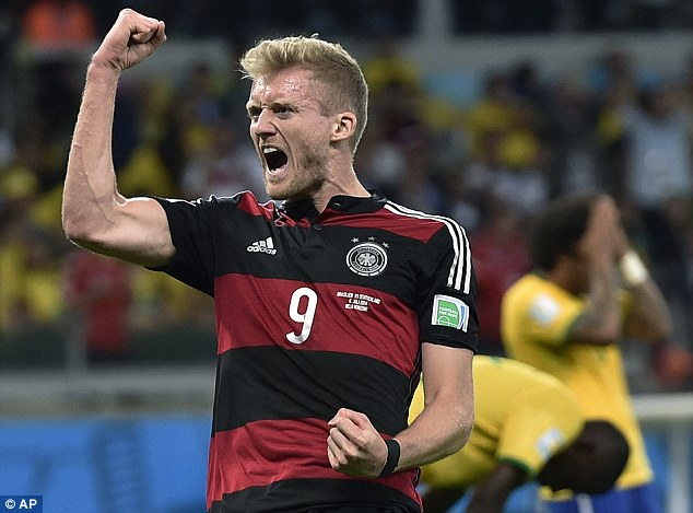 Andre Schurrle sixth