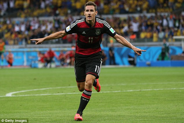Miroslav Klose second