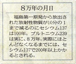 東京新聞4月19日ビジュアル夕刊「放射線を撮る」8万年の月日