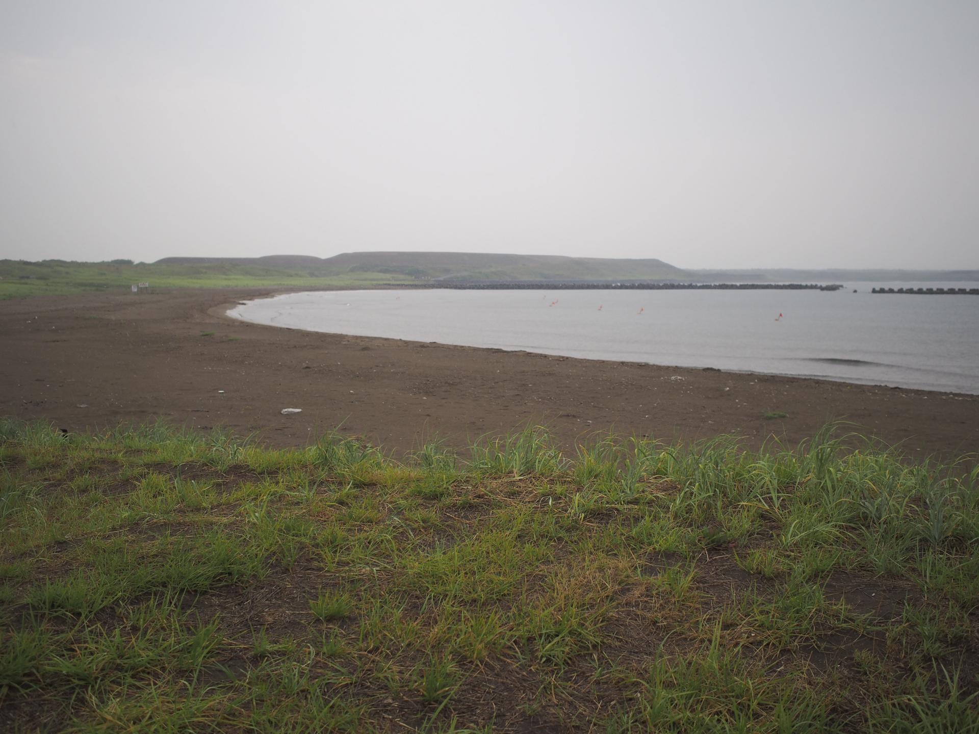 堀株海水浴場の浜辺1