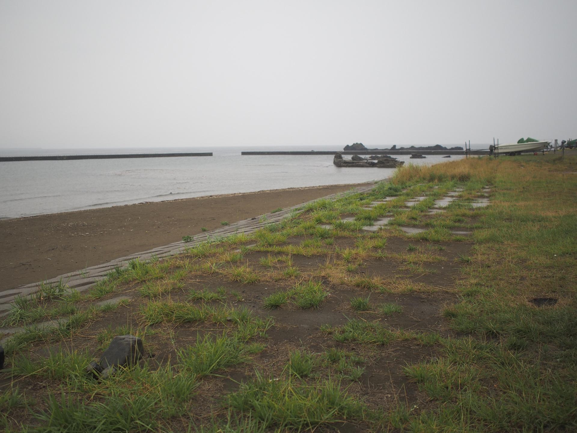 堀株海水浴場の浜辺2
