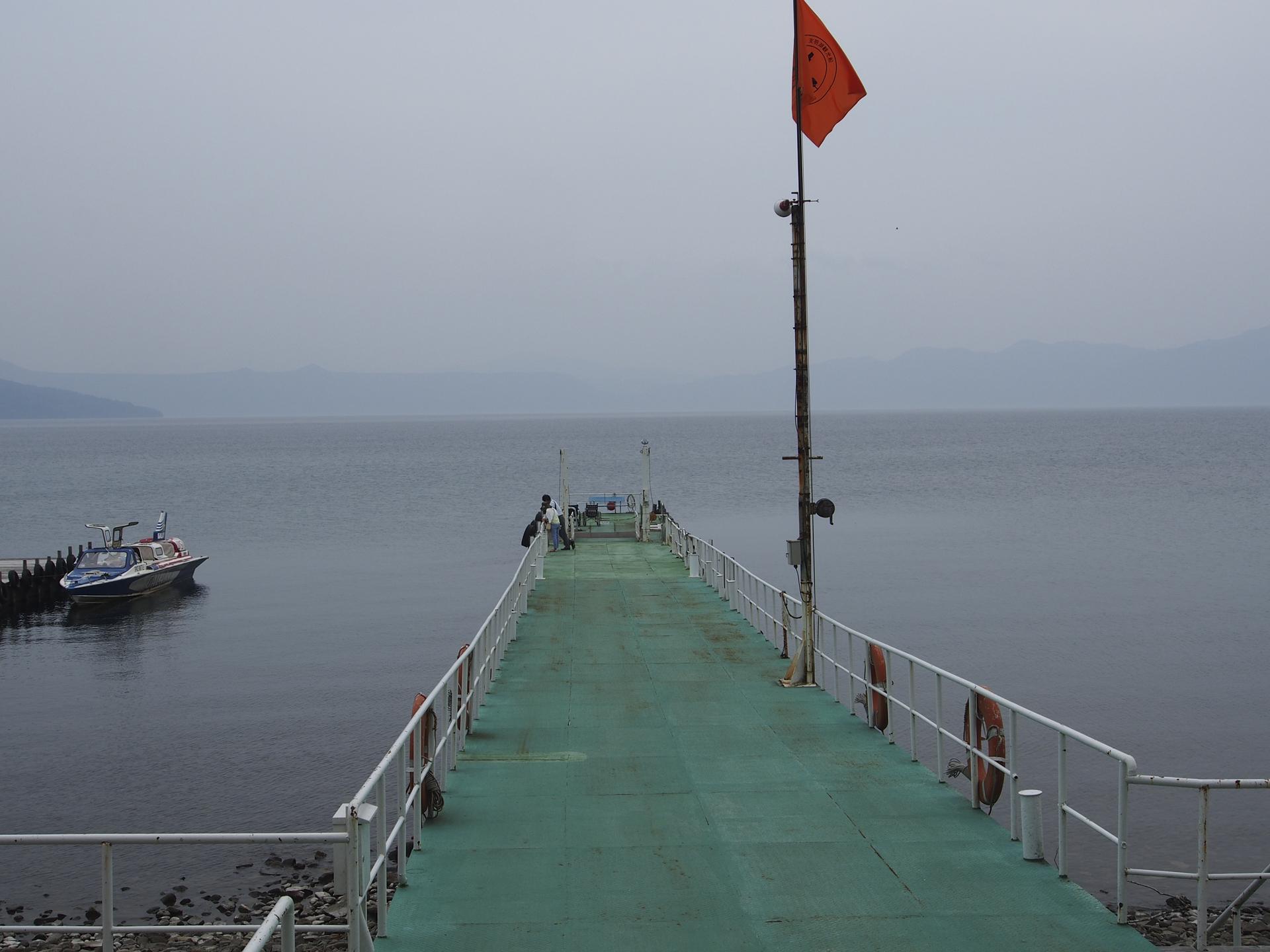 水中遊覧船乗り場の桟橋