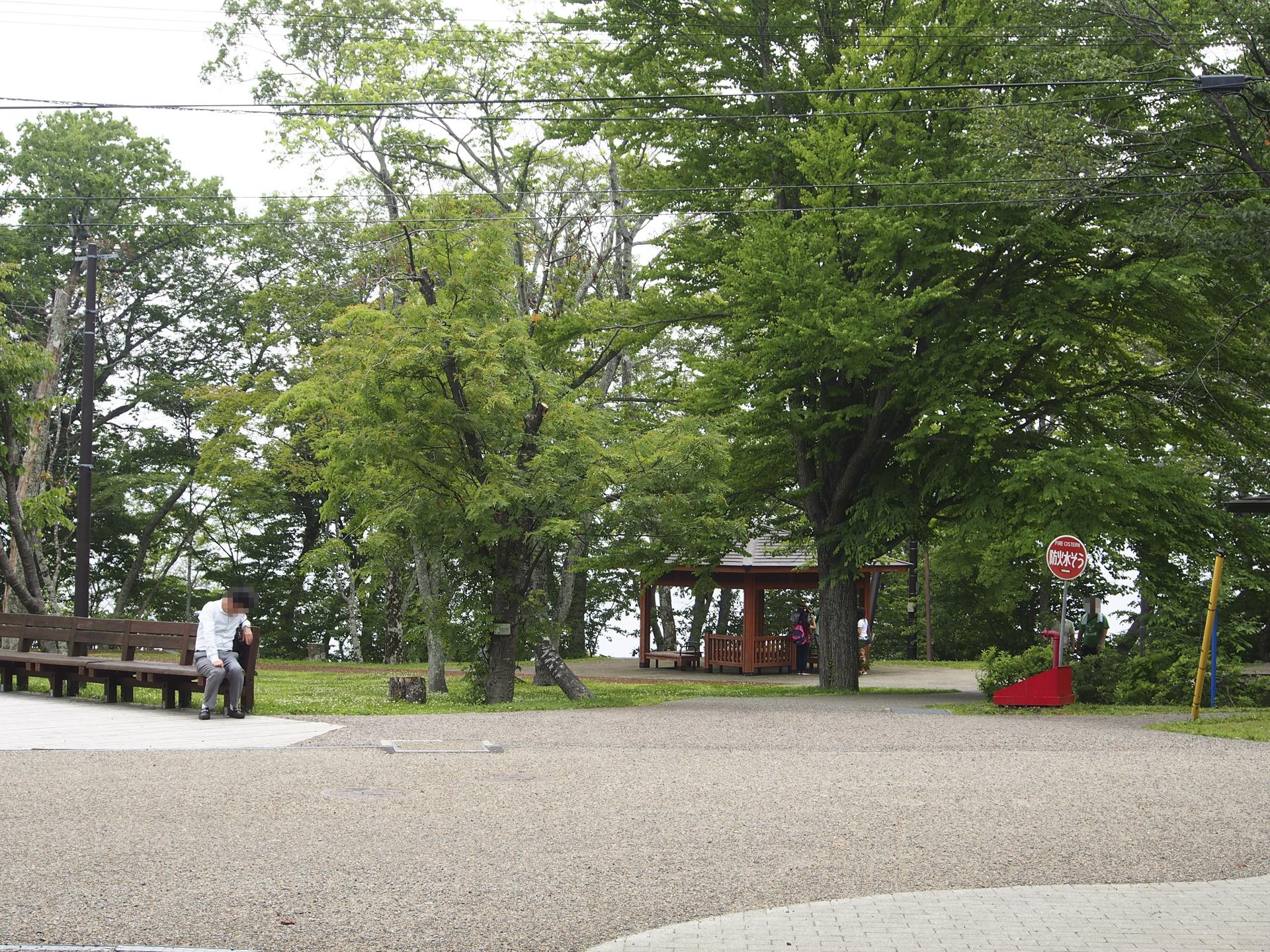支笏湖の公園