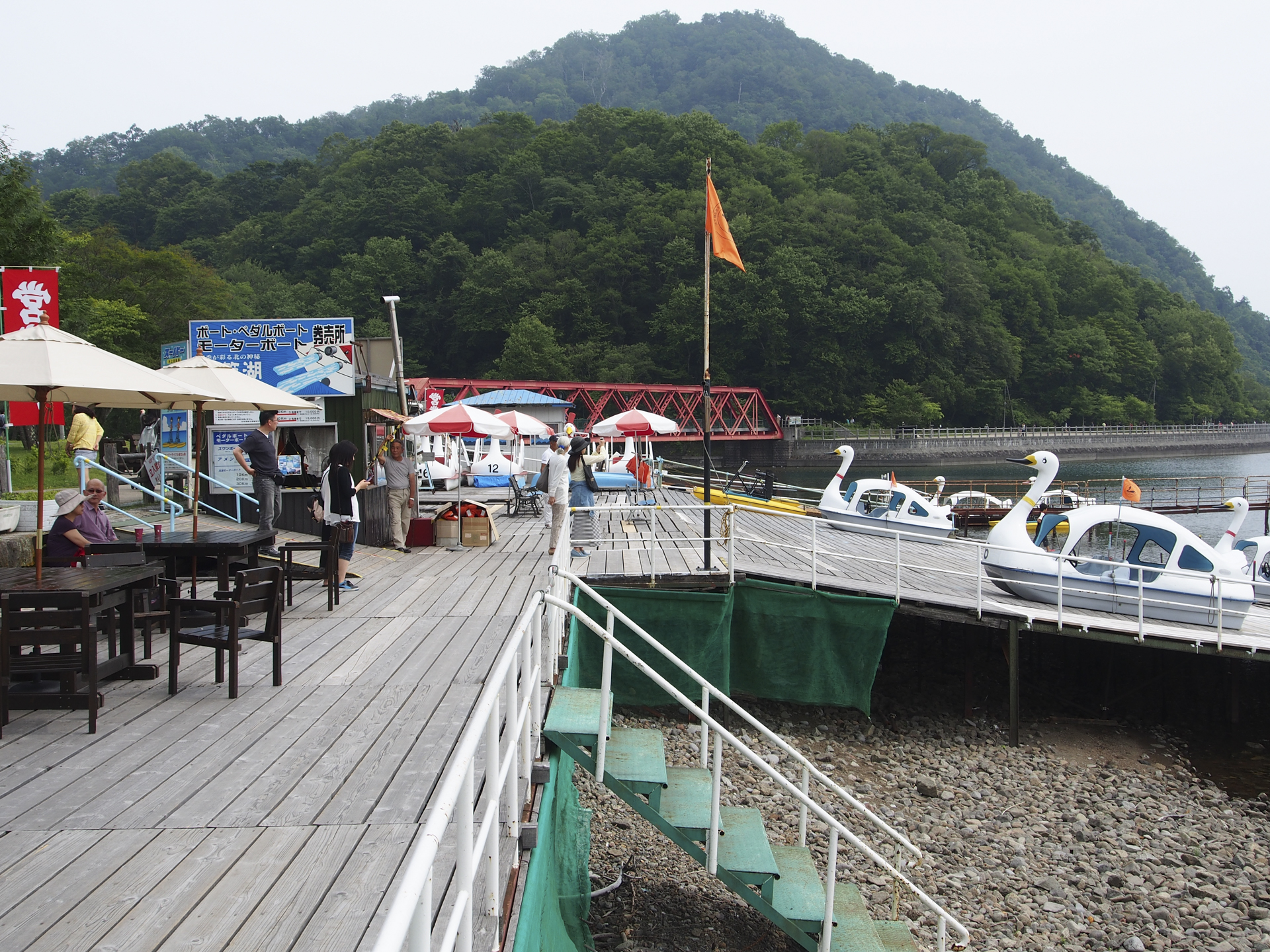 遊覧船乗り場の景色