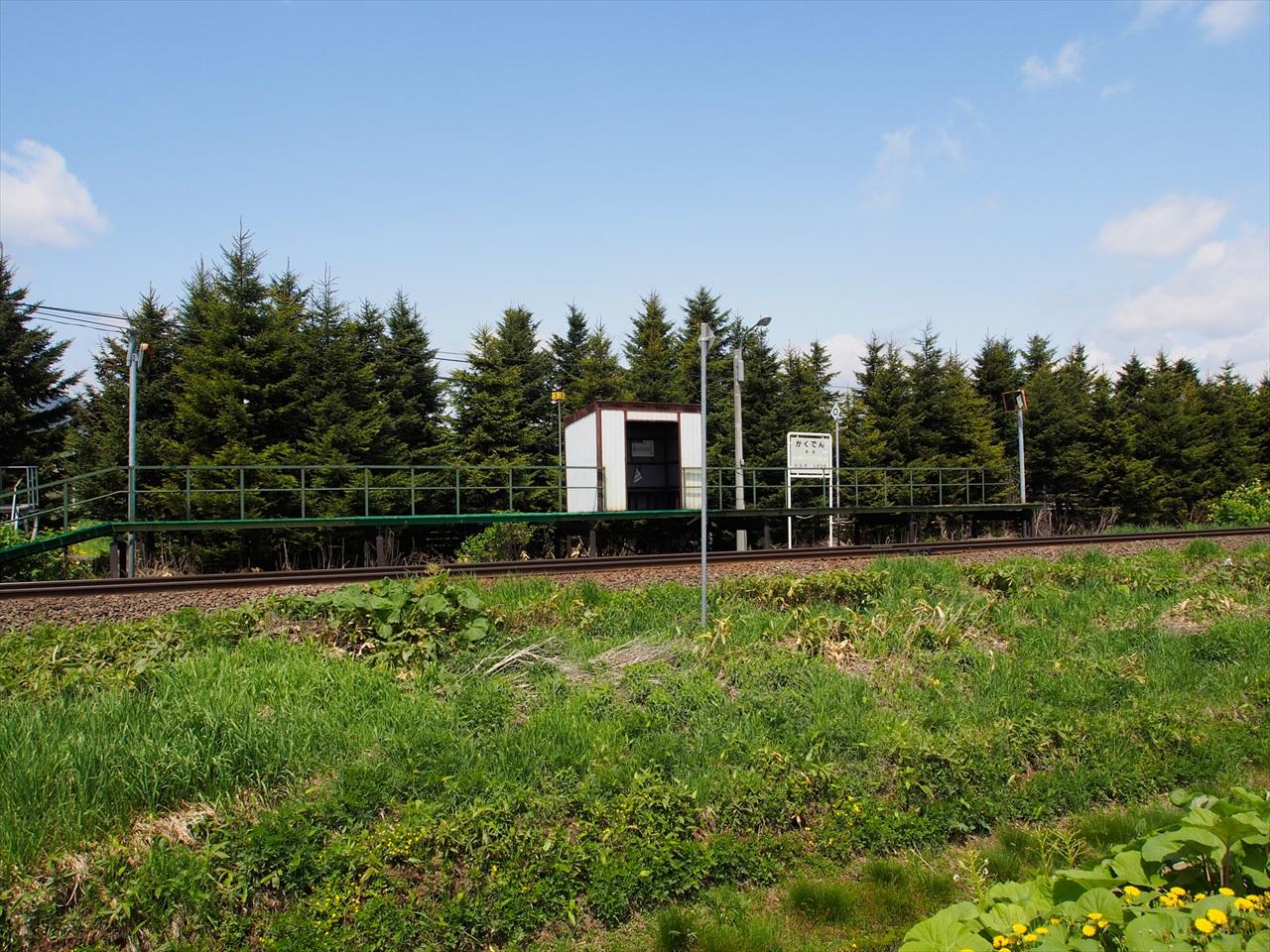 富良野線の学田駅