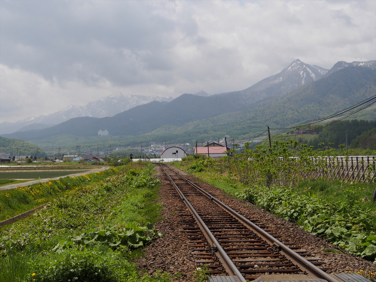 富良野方面へ続く鉄路