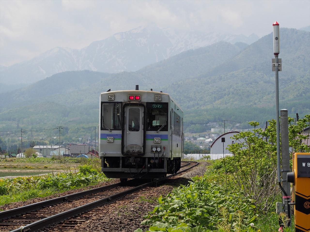 富良野方面へ向かうワンマン列車1