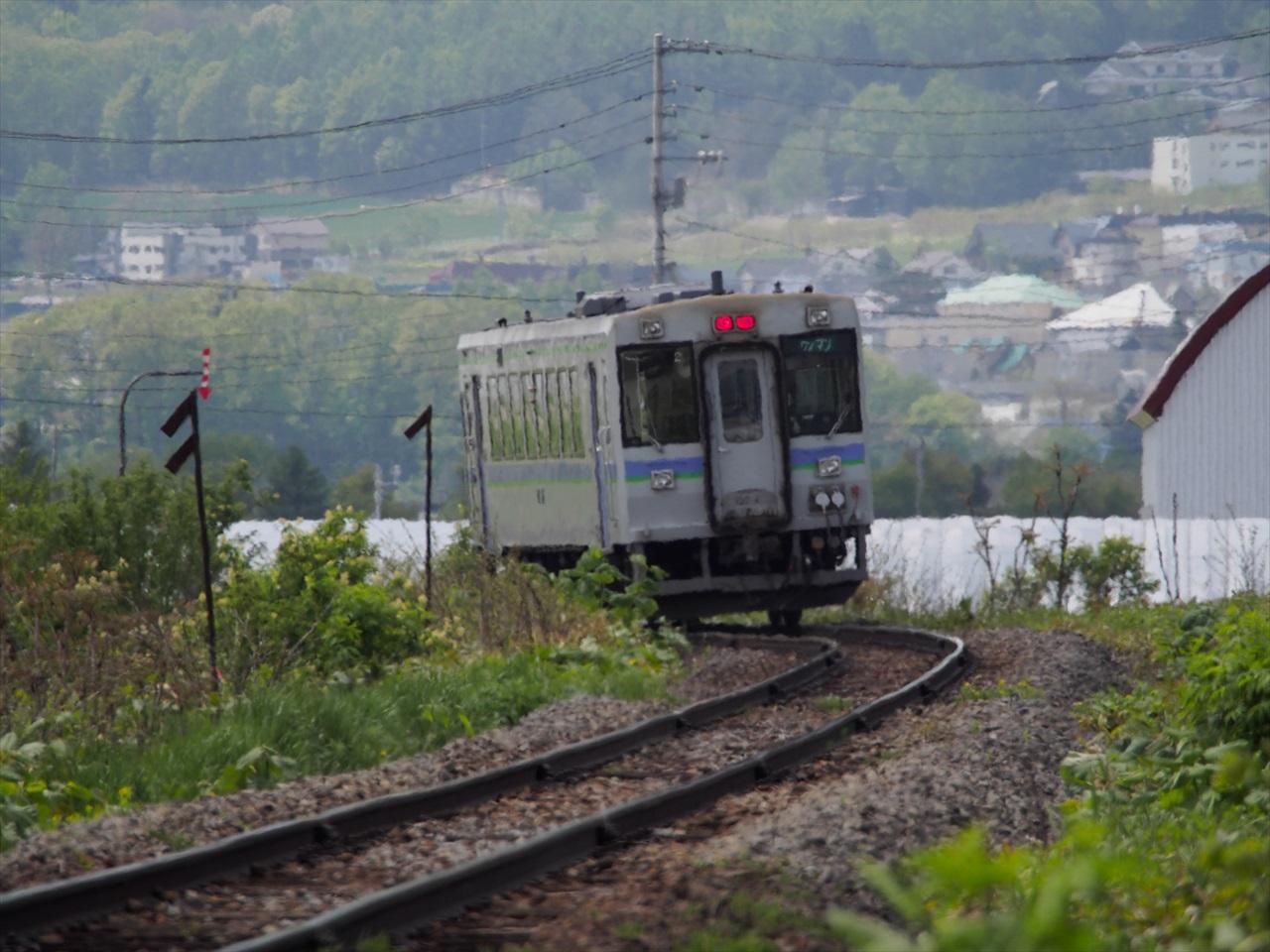 富良野線の鉄道風景