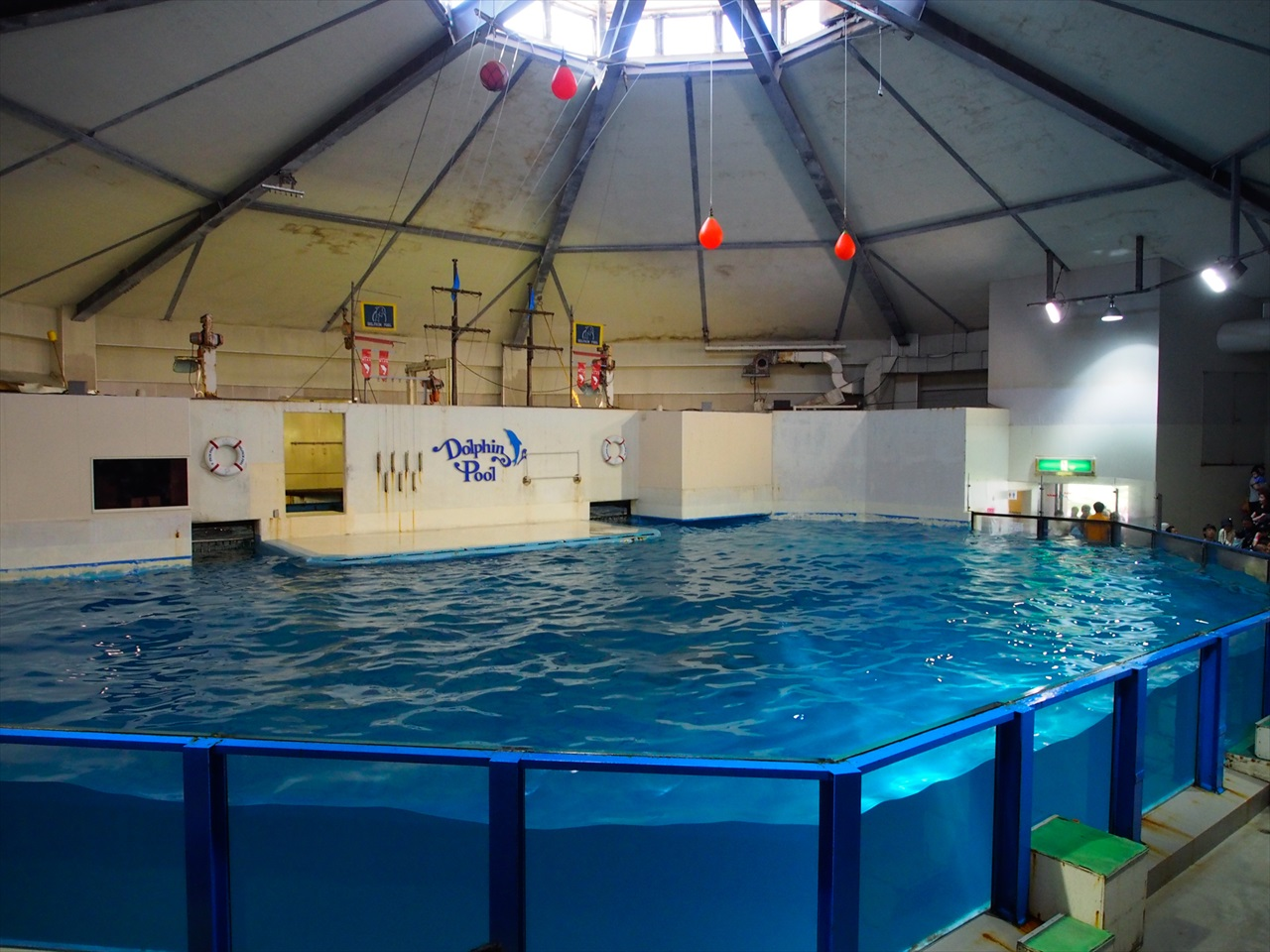イルカショーのプール