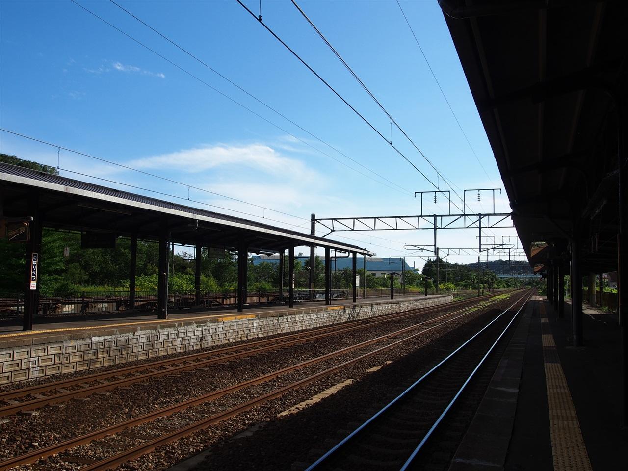 登別駅のホーム(函館方面)
