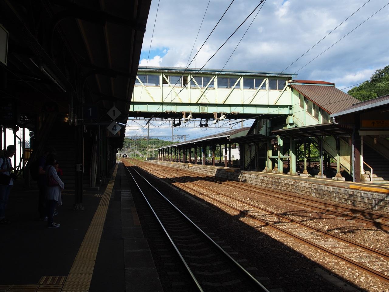 登別駅のホーム(苫小牧方面)
