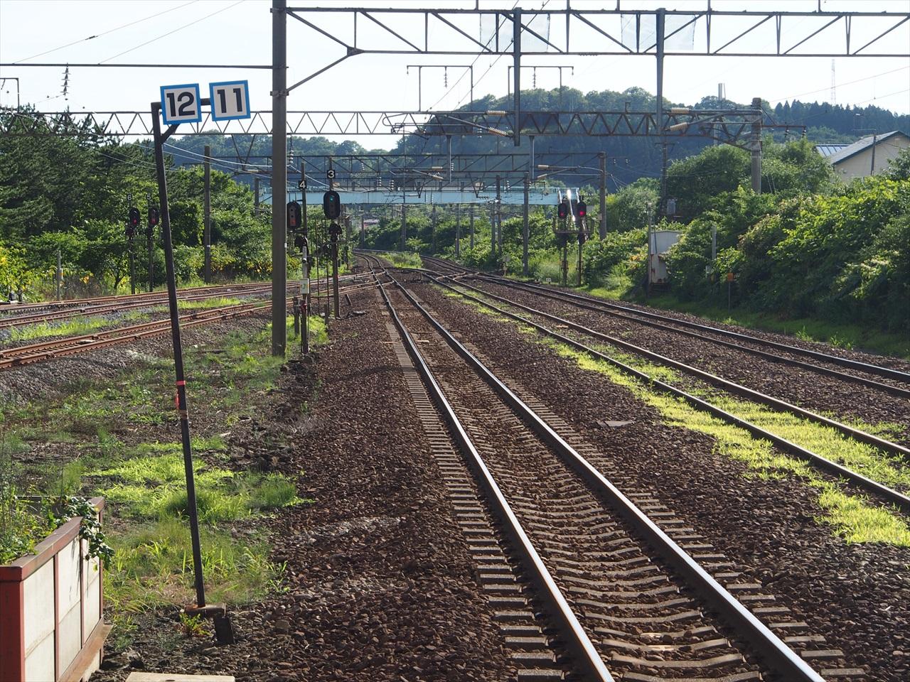 函館方面へと続く鉄路