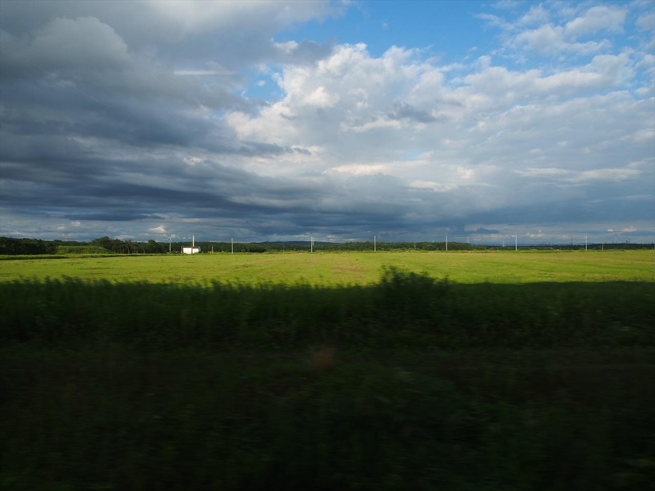 JR千歳線の車窓1