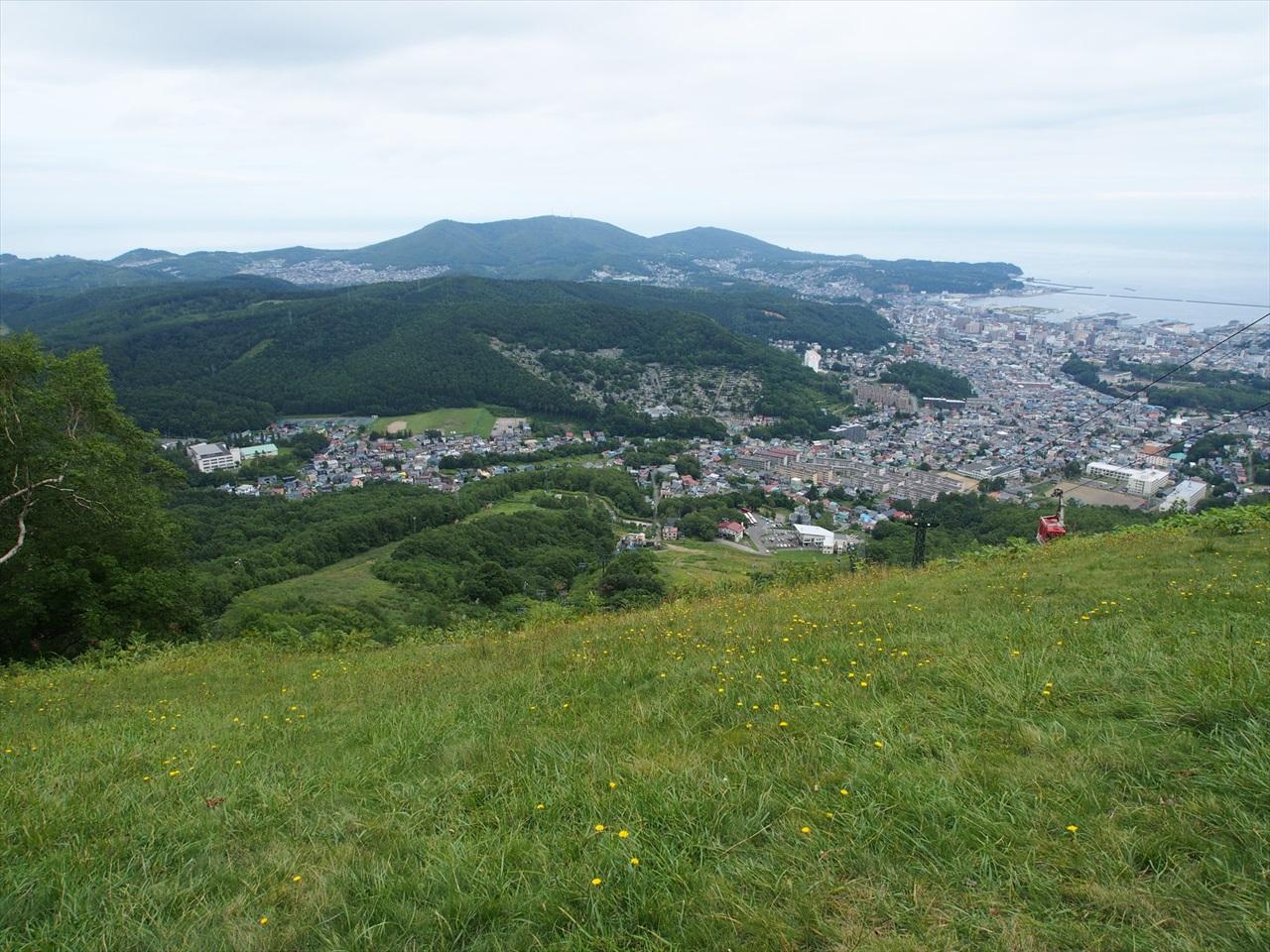 天狗山のスキー場の下り方面