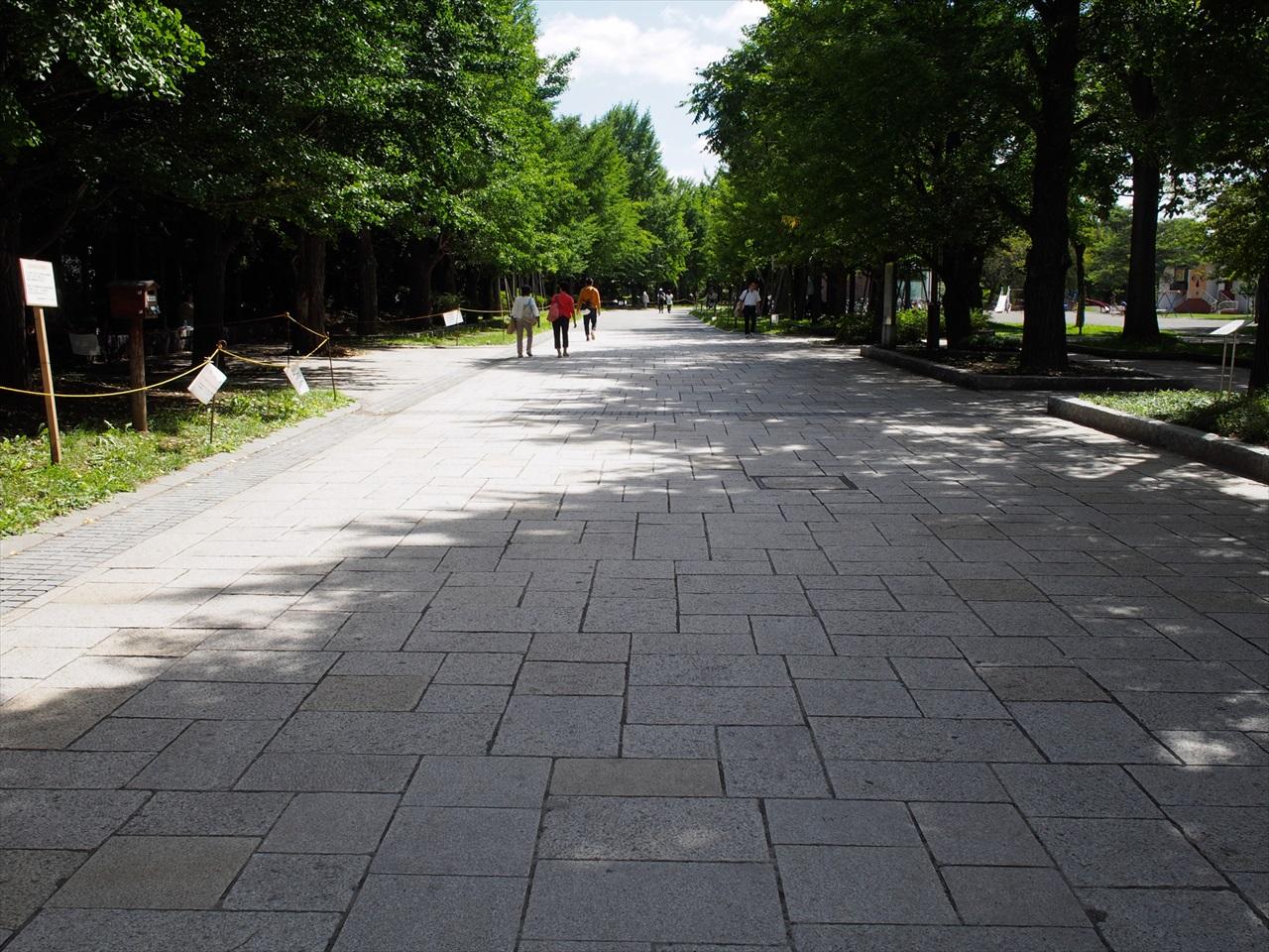 中島公園の北口