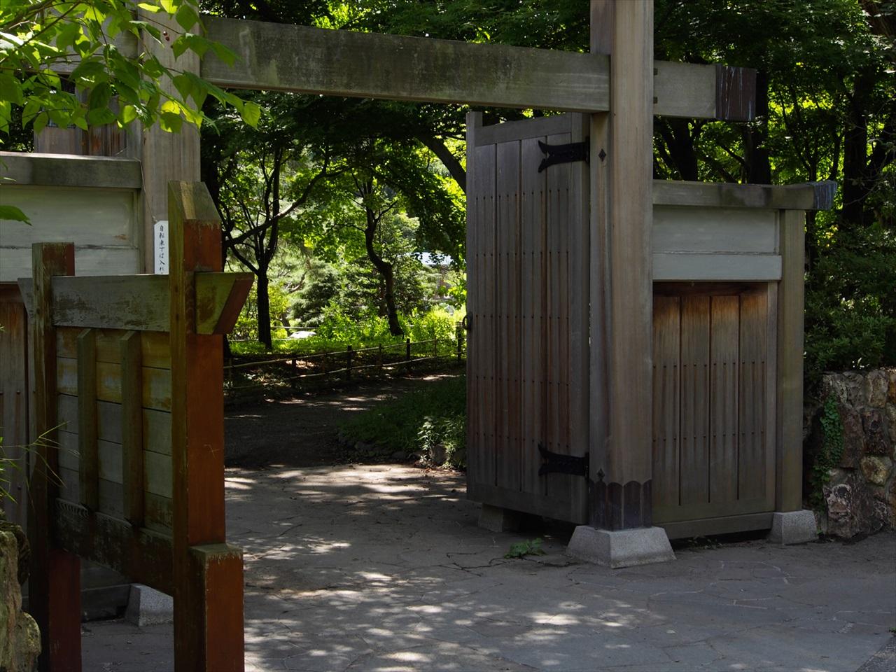 日本庭園への入り口