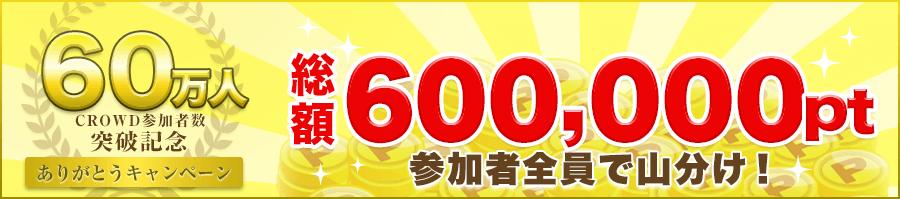 CROWD 60万人突破記念ありがとうキャンペーン ヘッダー