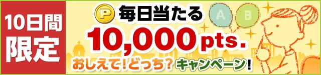 スマホ版ECナビ 毎日当たる10,000pts.おしえて!どっち?キャンペーン バナー