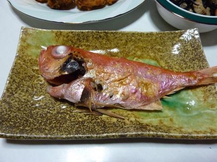 金目鯛の焼き物