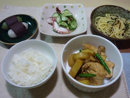 鶏とポテトのカレー炒め