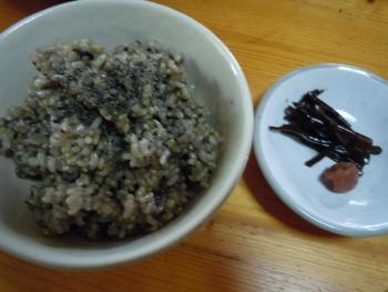 26 8黒ごま入り玄米ご飯&昆布の佃煮