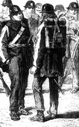 Soldados japoneses portando el ransel
