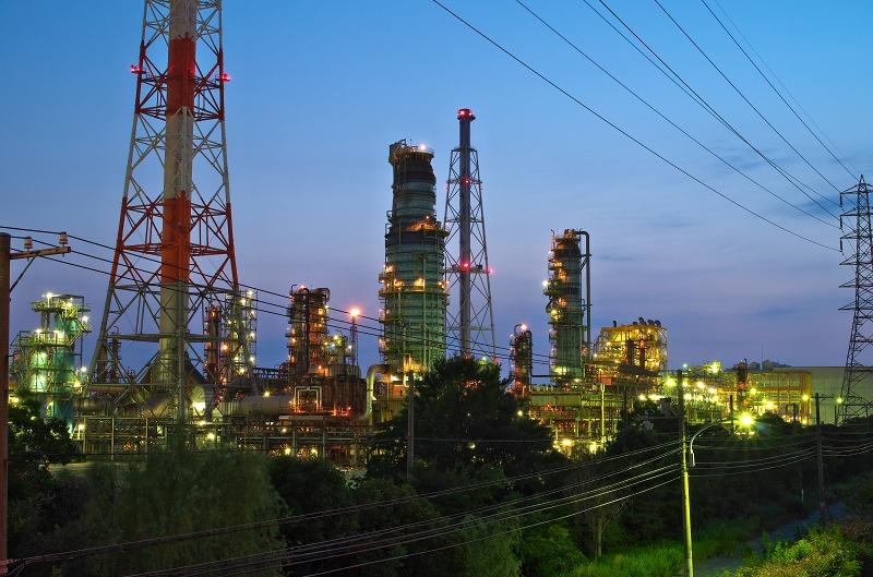 堺泉北臨海工業地帯 高砂地区 マジックアワー 夜景